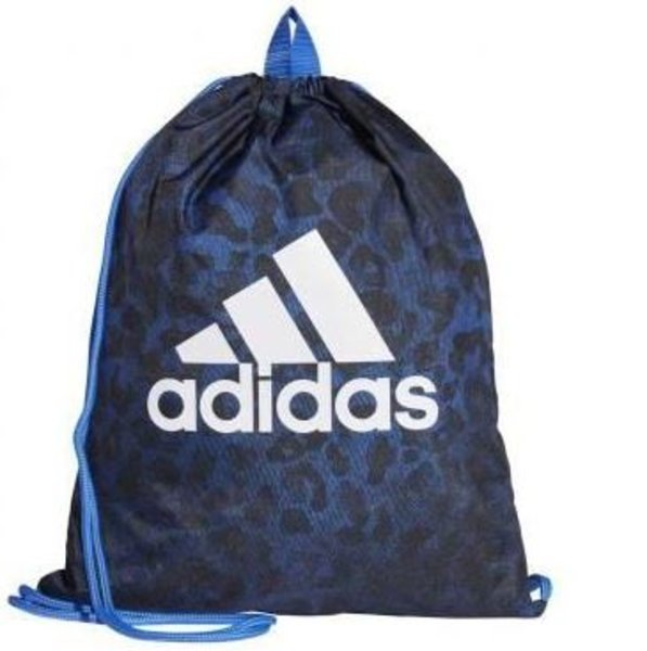 Turnbeutel Adidas blau schwarz