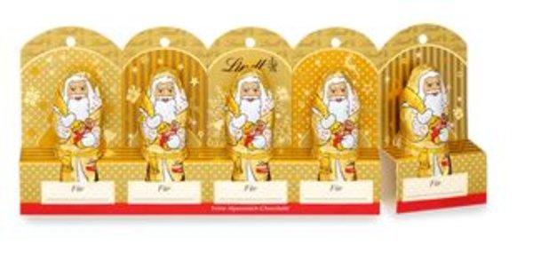 Mini-Weihnachtsmänner Gold Vollmilch perforiert, 50g