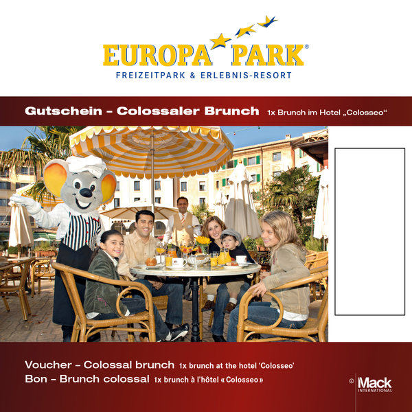 colossaler sonntagsbrunch emotions card europa park online shop. Black Bedroom Furniture Sets. Home Design Ideas