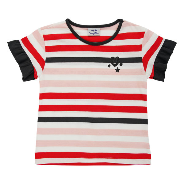 T-Shirt Girl red stripes