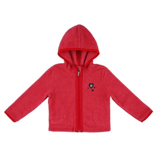 Fleece jacket girl red