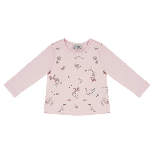 Baby Shirt langarm rosa Edda Meerjungfrau