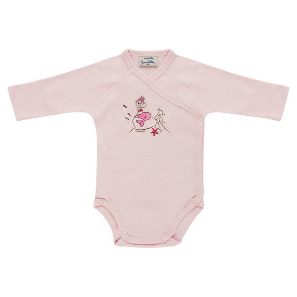 "Baby Body Langarm rosa ""Edda Meerjungfrau"""