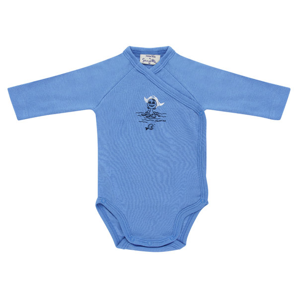 "Baby body long-sleeve blue ""Snorri"""