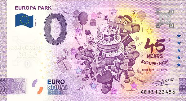 """Billet Euro souvenir """"Anniversary 2020"""" 45 Jahre"""