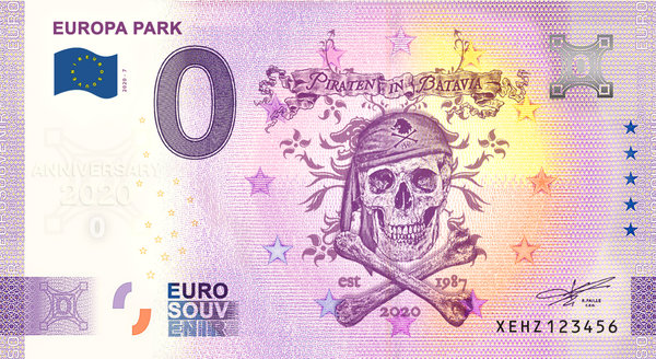 "Billet Euro souvenir ""Anniversary 2020"" Piraten in Batavia"