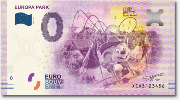 Billet Euro souvenir Europa-Park Camp Resort 2019