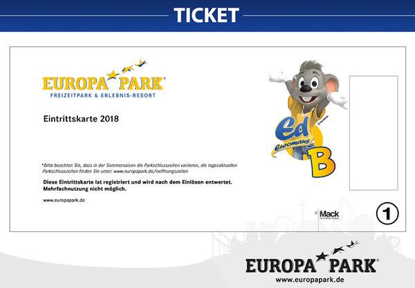 Eintrittskarte 2018 1 Tag Sommer Europa Park Online Shop