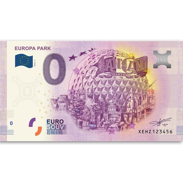 Europa-Park Euro – souvenir banknote Can Can Coaster 2018