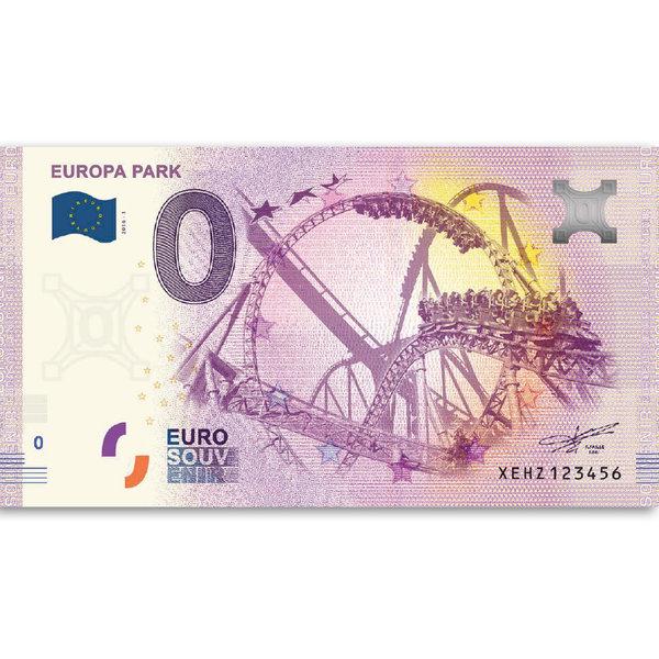 Europa-Park Euro Souvenir banknote rollercoasters