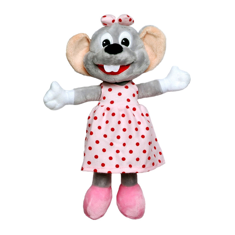 Soft toy Edda Euromausi with pink dress