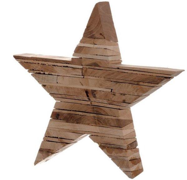 Étoile en bois Leonardo Foresta