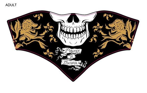 Maskenschal Erwachsene Piraten in Batavia