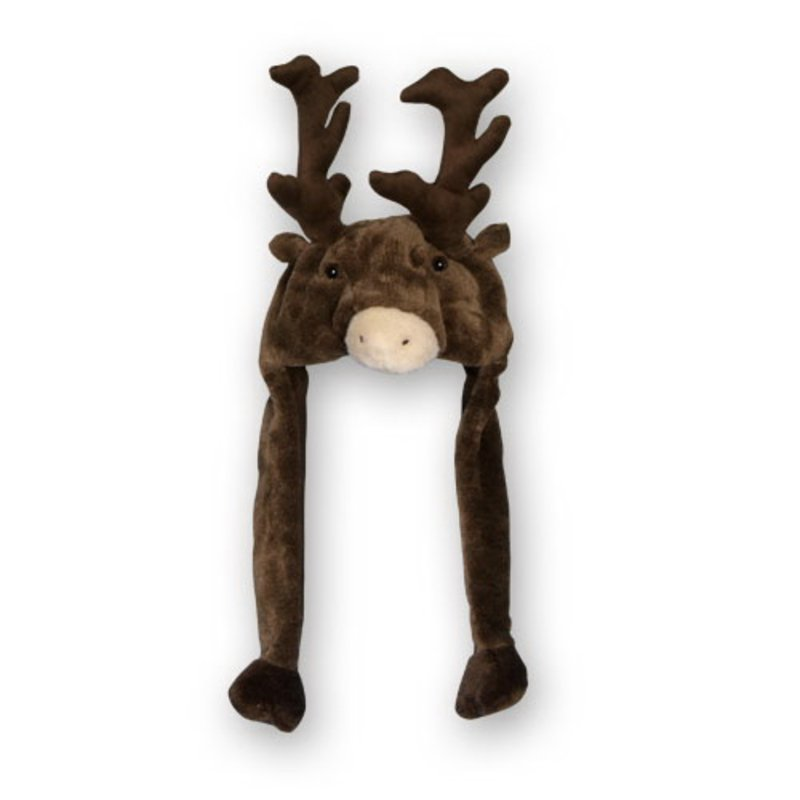 Plush Bonnet Reindeer