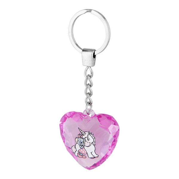 Key chain Heart with Edda Unicorn