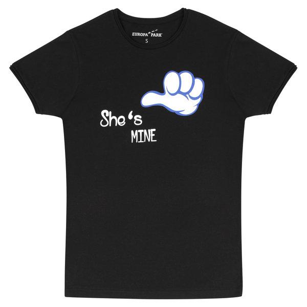 "Men\'s T-Shirt black ""She\'s mine"""