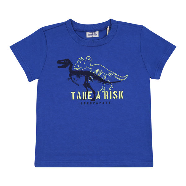 T-Shirt Garcon bleu Dinosaure