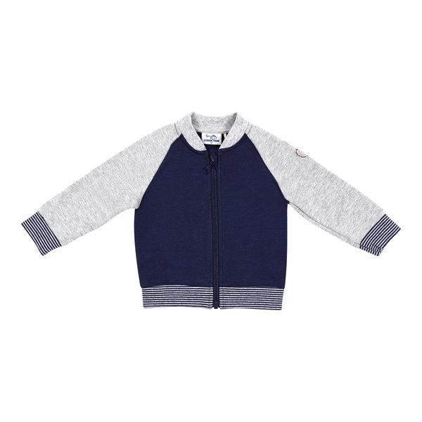 Baby Sweat Jacke blau/grau