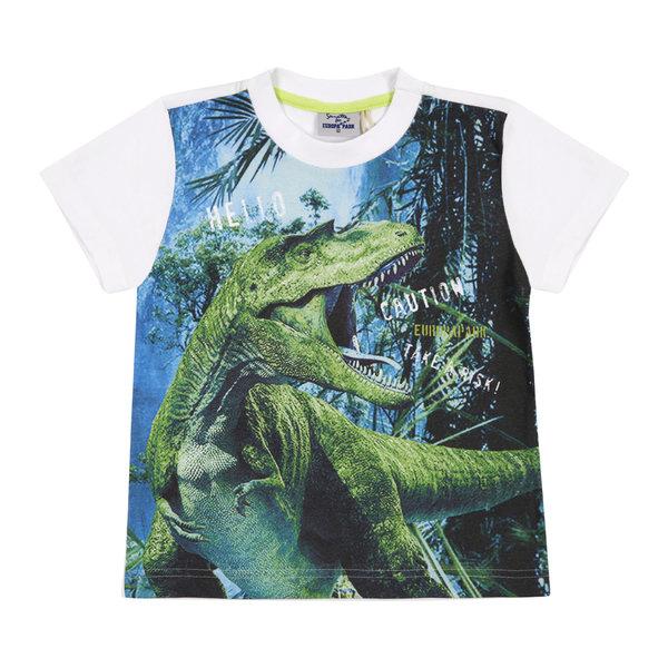 Boy\'s T-Shirt Dinosaur green/white