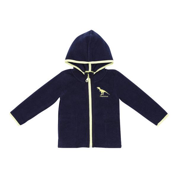 Boy\'s Fleece jacket blue navy Dinosaur
