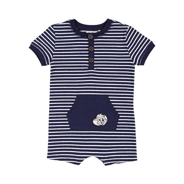 Baby Short Overall blue stripes
