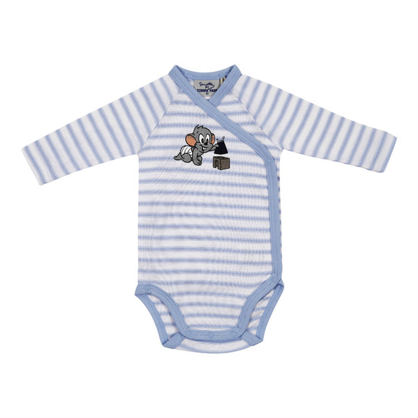 "Baby body long-sleeve blue ""Ed"""