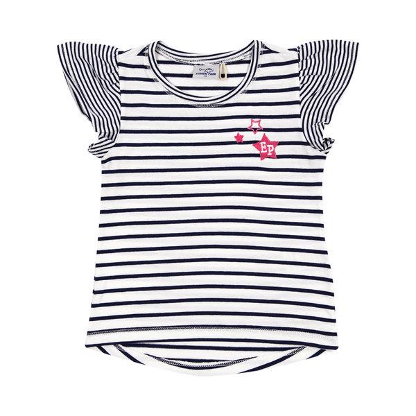 Girl\'s T-Shirt blue stripes EP Stars