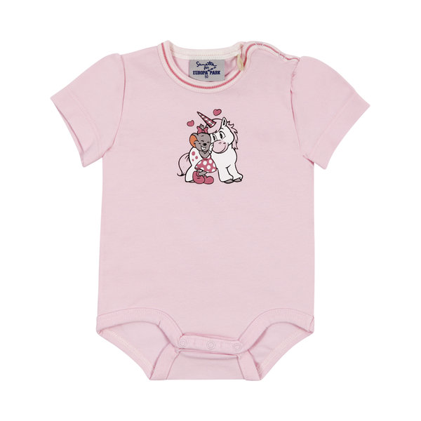 Baby body short-sleeve pink Edda Unicorn