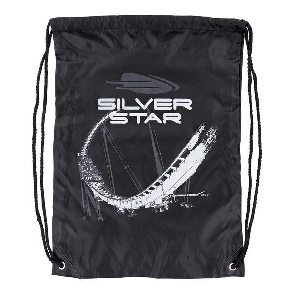 Turnbeutel Silver Star schwarz