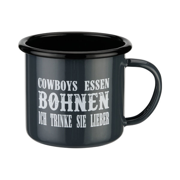 Tasse en émail Cowboys