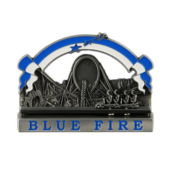 Metallmagnet Blue Fire