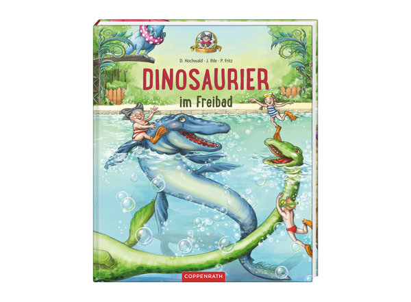 Bilderbuch Dinosaurier im Freibad